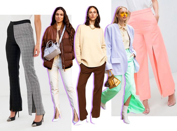 Фото №1 - Гид по тренду: как носить брюки с разрезами