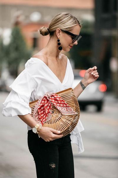 Фото №4 - 7 способов завязывать модную бандану как у Вали Карнавал и Евы Миллер