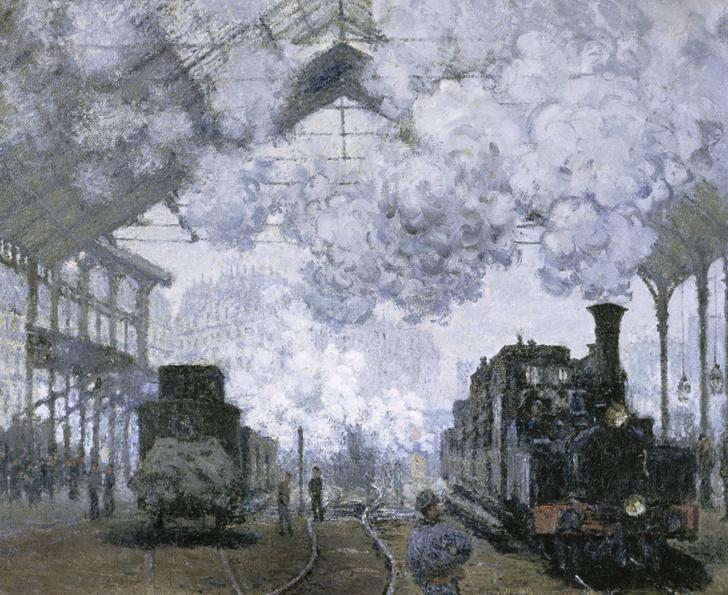 Фото №1 - Всё в дыму: 6 ключевых элементов картины «Вокзал Сен-Лазар. Прибытие поезда» Клода Моне
