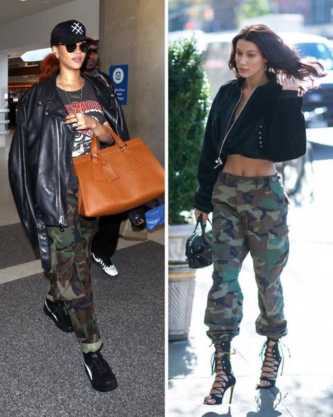Фото №1 - Fashion-битва: Рианна против Беллы Хадид