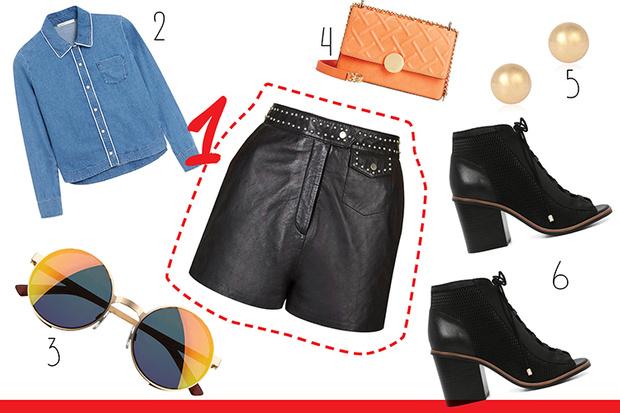 Фото №2 - С чем носить кожаные шорты