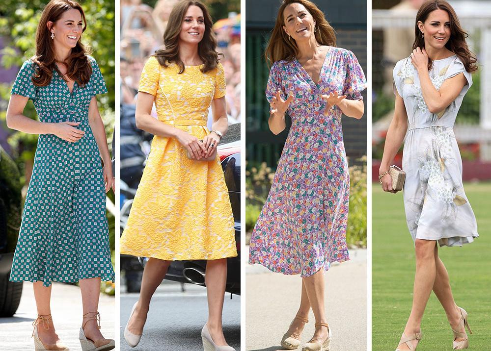 Цветы, горошек и шифон: где искать летние платья, как у герцогини Кейт