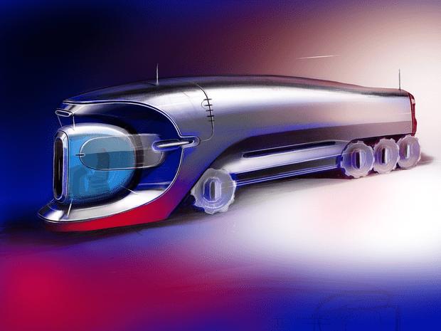 Фото №2 - Как мог бы выглядеть грузовик Bugatti