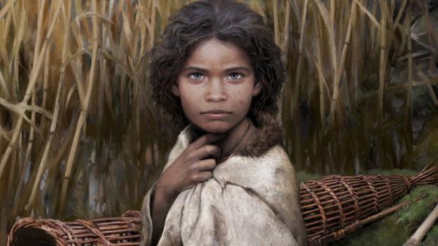 Фото №2 - Ученые воссоздали женщину каменного века по куску смолы, который она жевала