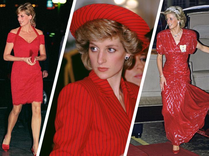 Фото №1 - 60 красных нарядов: как принцесса Диана носила любимый цвет