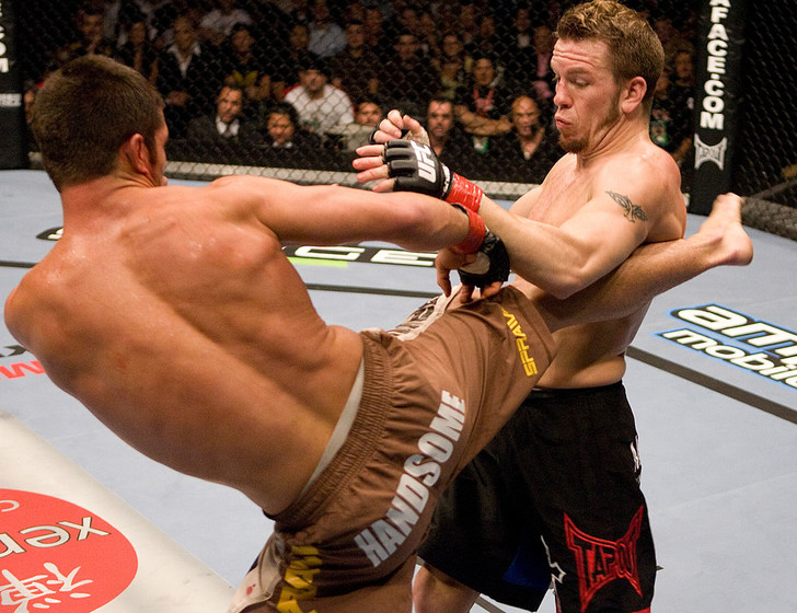 Фото №1 - 10 нокаутов из прыжка в UFC в одном видео