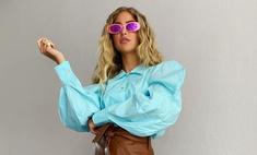 Сочетайте карамельный и голубой оттенки, как стилист Эмили Синдлев