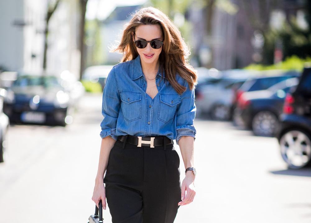 Расширяем гардероб: 5 способов носить джинсовую рубашку в офис