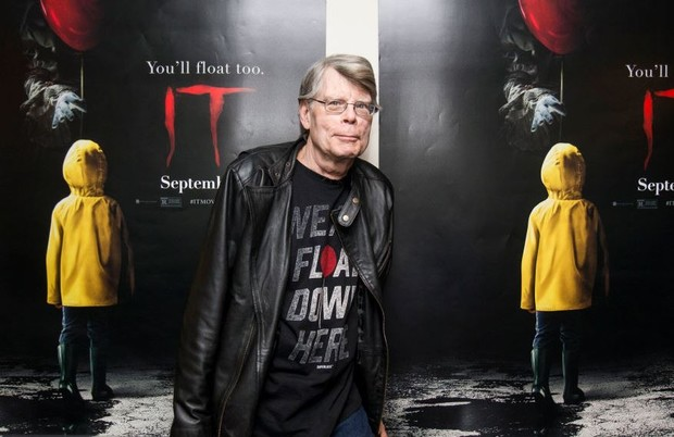 Стивен Кинг на премьере «Оно», 2017 год