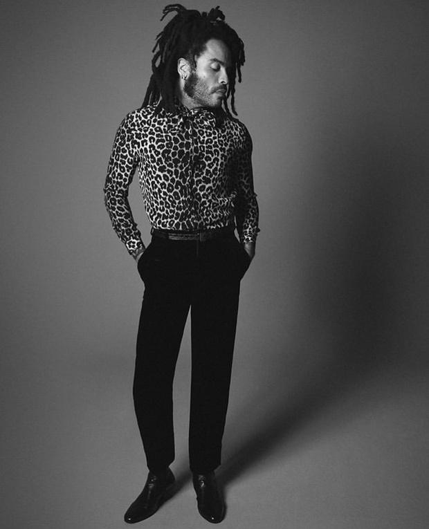 Фото №1 - Ленни Кравиц— новое лицо Saint Laurent