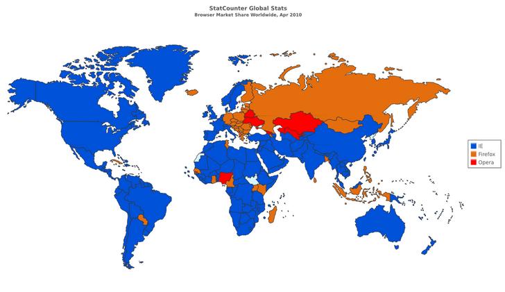 Фото №3 - Карта: самый популярный в мире интернет-браузер