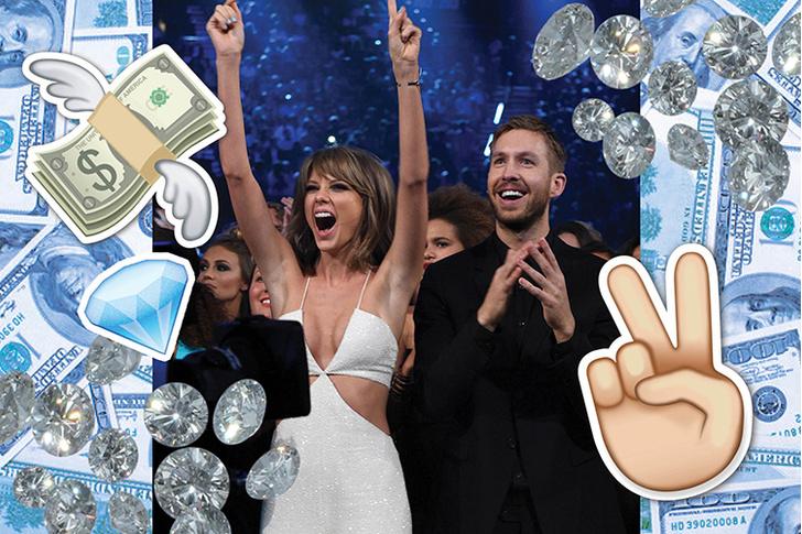 Фото №1 - Тейлор Свифт и Келвин Харрис зарабатывают больше всех!