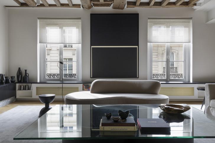 Фото №6 - Нетипичная парижская квартира в черно-белой гамме