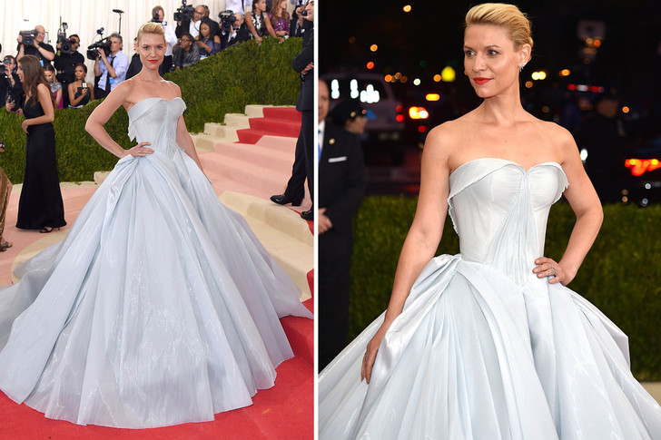 Клэр Дейнс  светящееся платье met gala лучшее сакмое красиво дизайнерское золушка мем гиф дизайнер зак позен