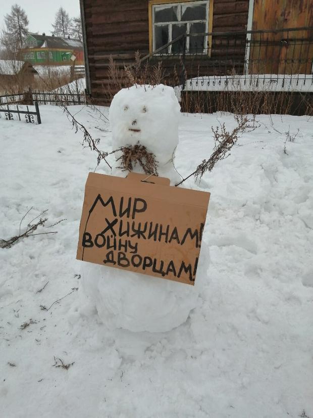 Фото №2 - В Архангельской области полиция разогнала несанкционированный митинг снеговиков (много фото)