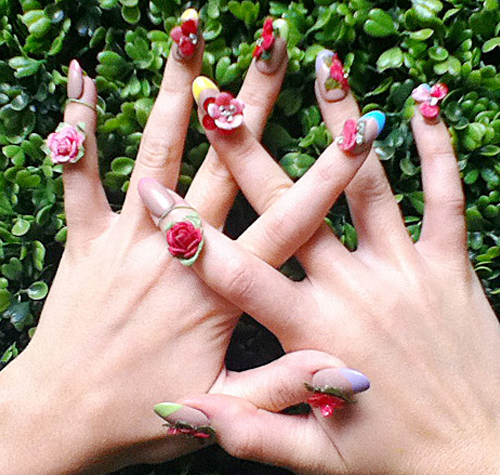 Дизайн ногтей осень-зима 2015. 3D дизайн ногтей. Фото.