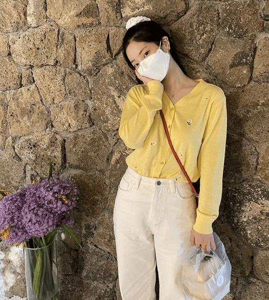 Фото №1 - С чем носить белые джинсы летом: показывает Дахён из TWICE