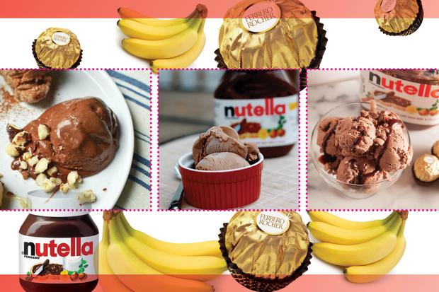 Мороженое Банан Нутелла