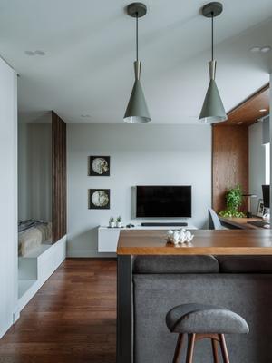 Фото №6 - Как уместить в однушке спальню, кабинет и гостиную: фото