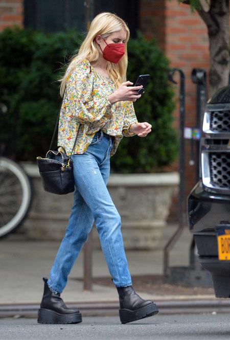 Эмма Робертс в Нью-Йорке