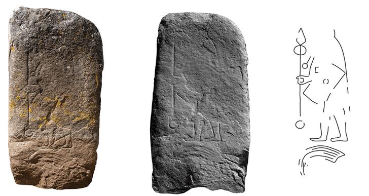 Фото №1 - В Шотландии нашли камень с изображением воина