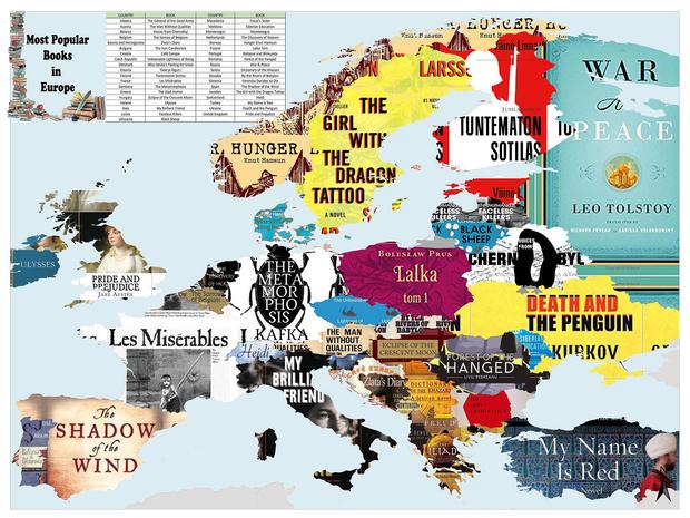 Фото №2 - Карта: Cамые популярные книги в каждой стране Европы