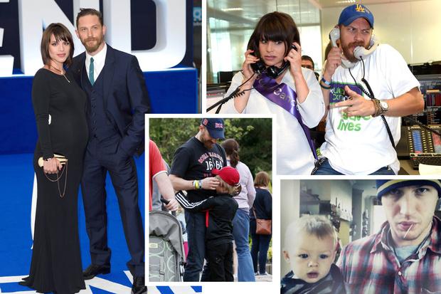Том Харди с семьей
