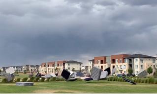 В Колорадо удалось заснять побег надувных матрасов (видео)