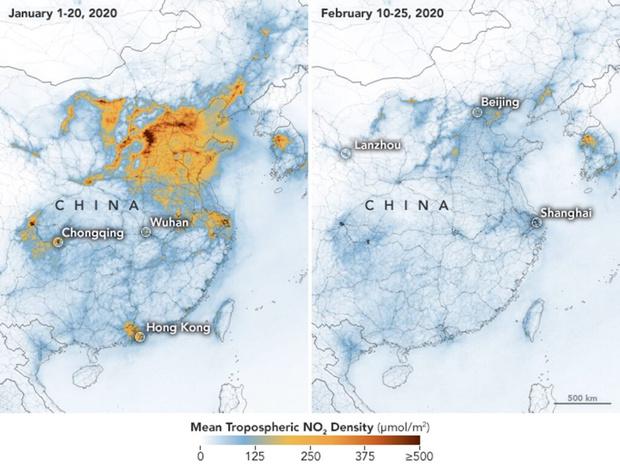 Фото №2 - Загрязнение от китайского производства: до и после начала эпидемии
