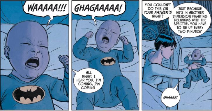 Фото №1 - Ого! В комиксе DC у Бэтмена и Женщины-кошки родилась дочка