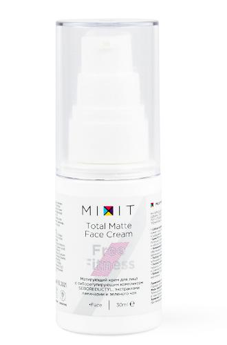 Матирующий крем для лица с анти-акне комплексом        FREE FITNESS Total Matte Face Cream от MIXIT