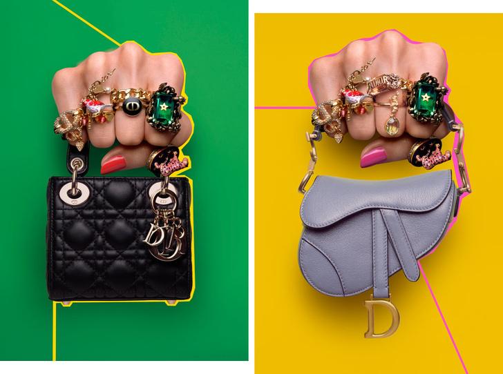Фото №1 - Идеальный летний аксессуар: как выглядят все микро-сумки Dior (и с чем их носить)