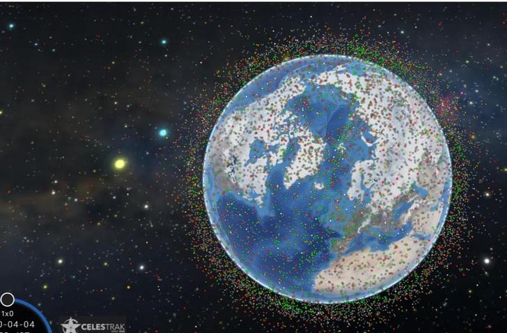 Фото №1 - Интерактивная 3D-карта спутников, которые прямо сейчас летают вокруг Земли