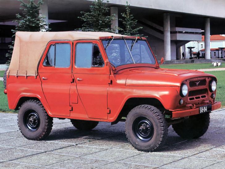 УАЗ-469 c двойным лобовым стеклом выпускался и в 80-е годы