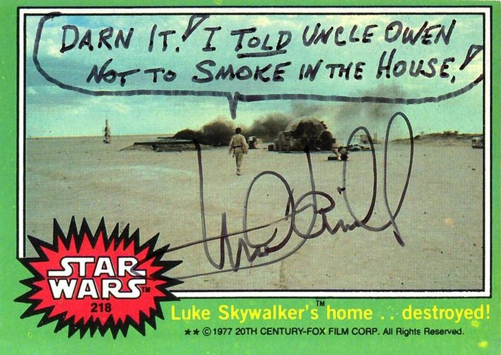 Фото №2 - Другой Люк Скайуокер: Шутливые автографы Марка Хэмилла