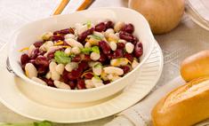 Салат из фасоли с орехами