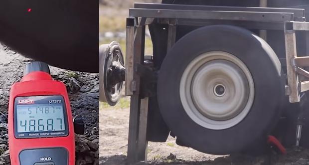 Фото №1 - Русские умельцы провели эксперимент: разгон покрышки до скорости звука (видео)