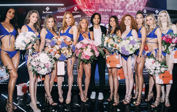 Александр Маленков и десять финалисток.