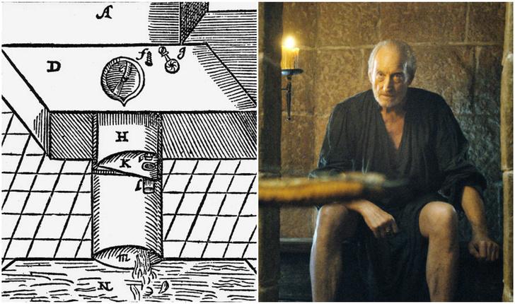 Фото №1 - Как первый в истории туалет со смывом связан с «Игрой престолов»
