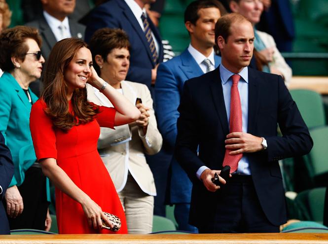Фото №1 - Герцогиня Кэтрин и принц Уилльям на Уимблдоне