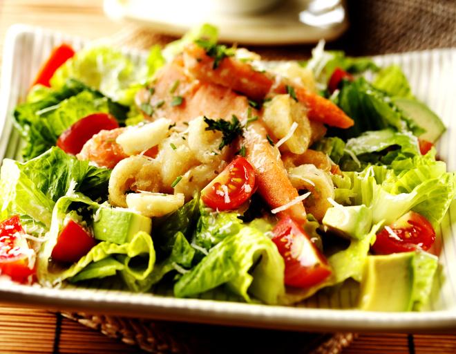 салат лососевый