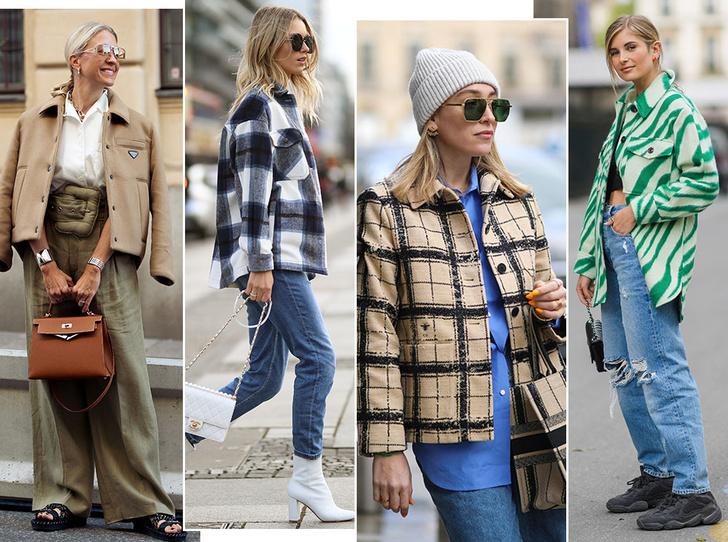 Фото №1 - Самая модная верхняя одежда осени: где искать куртки-рубашки (и с чем их носить)