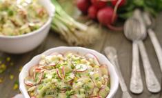 Салат из молодого редиса