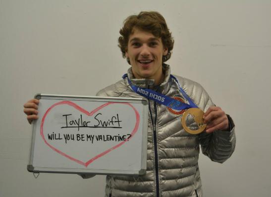 Ник Гоппер (Nick Goepper) на Олимпиалде в Сочи признался Тейлор Свифт в любви