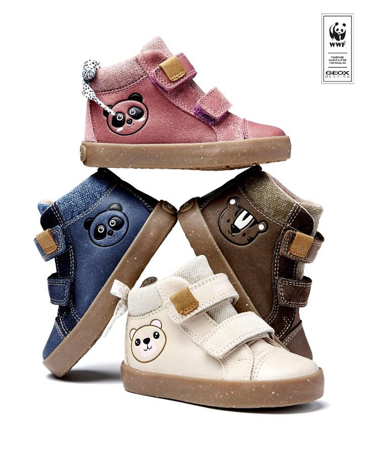 Фото №1 - Капсульная коллекция детской обуви Geox, созданная в сотрудничестве со Всемирным фондом дикой природы