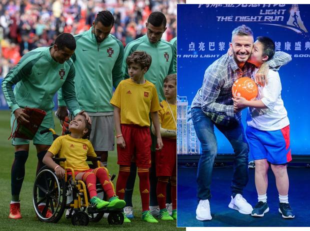 Фото №1 - Как Роналду, Бекхэм и Месси делают мир лучше