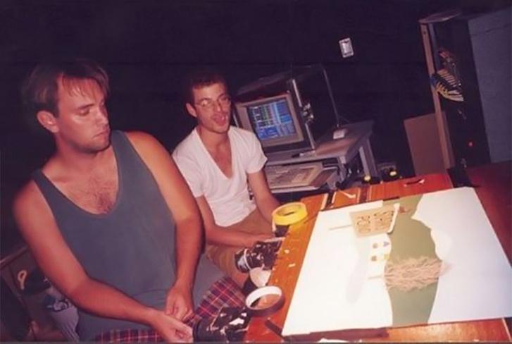 Слева направо: Трей Паркер (23 года), Мэтт Стоун (21 год)