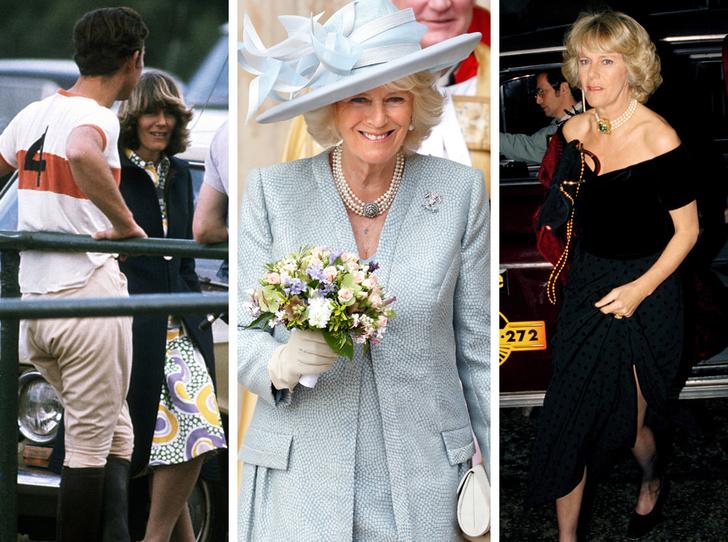 Фото №1 - От подруги принца до будущей королевы: эволюция стиля Камиллы Паркер-Боулз