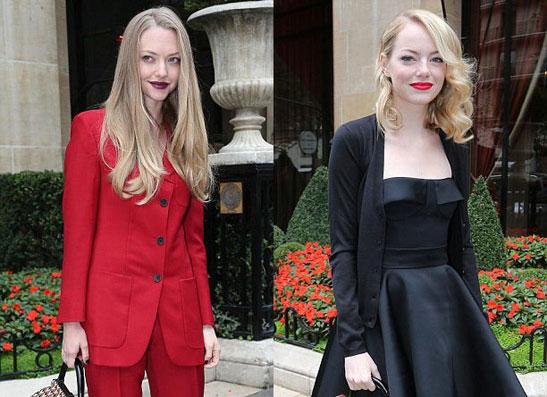 Фото №1 - Как не совершить бьюти-ошибку: макияж от Эммы Стоун и Аманды Сейфрид