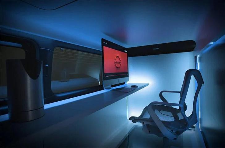 Фото №7 - Кабинет на колесах: концепт передвижного офиса Nissan